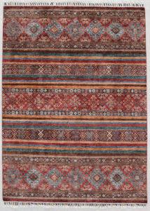 Khorjin Teppich, Wolle streifen muster bunt rot blau