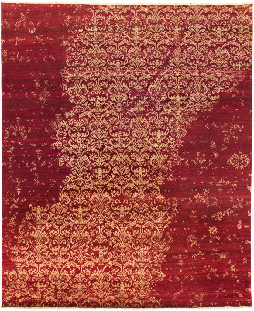 cashmir rug red gold